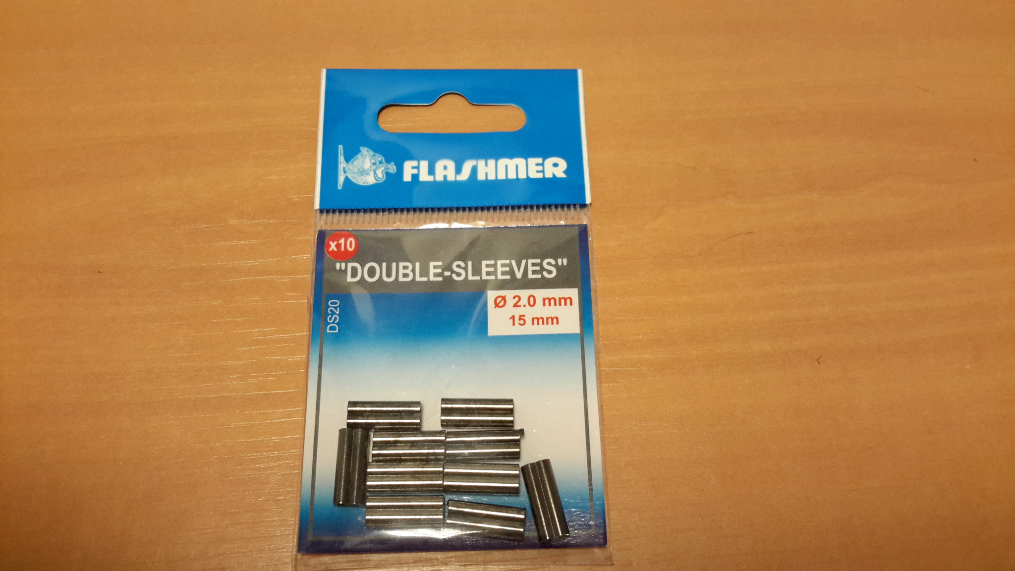 Double sleeves diamant 2 mm longeur 15mm - sachet de 10 - Flashmer